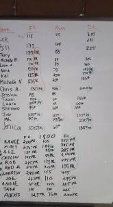 Front Squat CrossFit total 1 8 September
